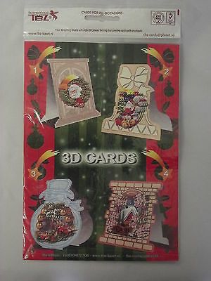 Box of 200 TBZ Christmas Cardmaking Packs 3D Decoupage with Envelopes 539307