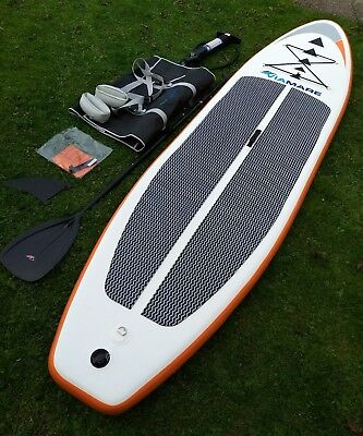Sup Board Viamare 330 inflatable ISUP Top Zustand Stand Up Paddle Paddel Set