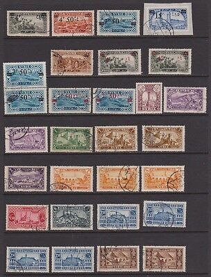 SYRIA 1926-1931 twenty-nine used