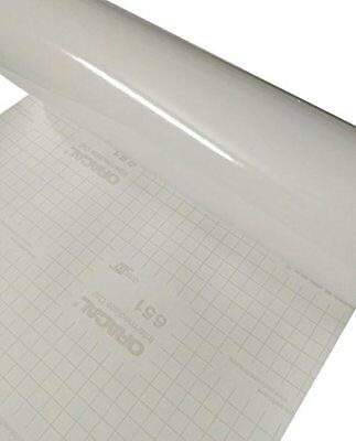 """12"""" x 10 Ft Roll of Glossy Oracal 651 White Permanent Adhesive-Backed Vinyl"""