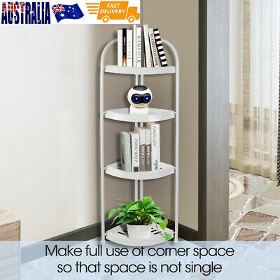 Shower Corner Shelf Chrome Caddy Bathroom Shelves Organiser Storage 4 Tiers OZ