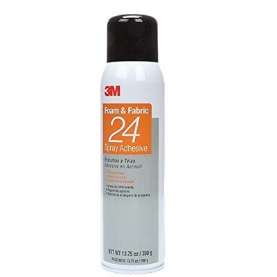 3M Foam & Fabric 24 Spray Adhesive Orange, 20 fl Ounce can, Net Weight 13.75