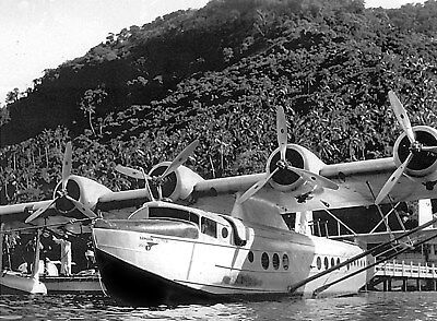 Pan Am Clipper photo Sikorsky S-42 Airplane Flying Boat 1930s Samoan Clipper