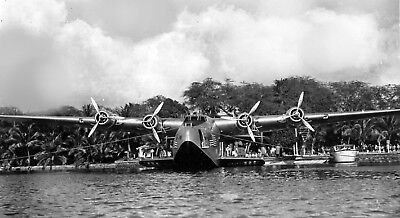 Pan Am Clipper photo Boeing B-314  Airplane Flying Boat 1930s Hawaii