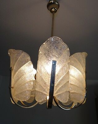 Lampara Vintage. Carl Fagerlund. Orrefors. Chandelier Glass.