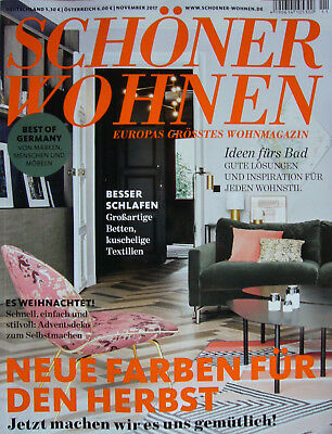 schoener wohnen aktuelle ausgabe 11 november 2017 eur 1 00 picclick de. Black Bedroom Furniture Sets. Home Design Ideas