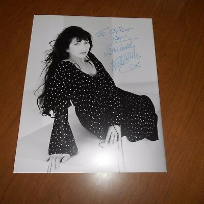 Kate Bush, CBE is an English singer-songwriter, musician Hand Signed Photo