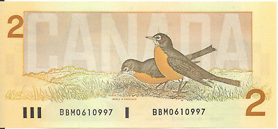 Bank of Canada 1986 BBM Prefix Small b Large B Thiessen- Crow UNC