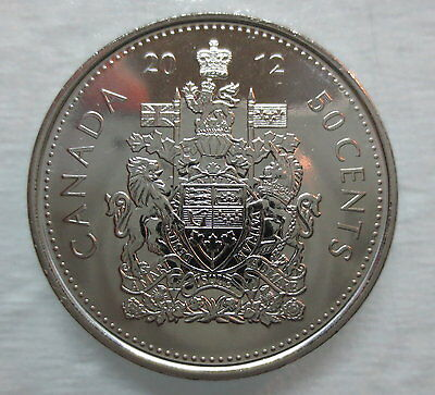 2012 Canada 50 Cents Proof-Like Half Dollar Coin