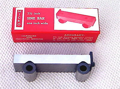 2-1/2 Inch Sine Bar Micro Brand-- New Made By Fisher In The Usa