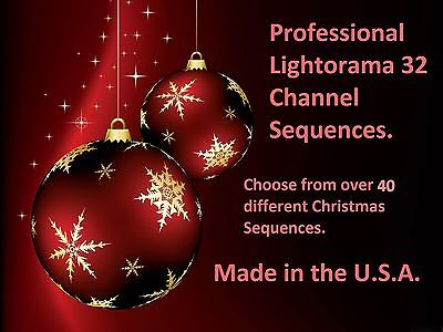 32 channel Lightorama sequences. Christmas Package. 5 for $35.00 Best on E-bay!