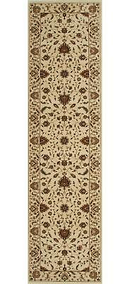 STUNNING FORMAL CLASSIC DESIGN RUG RUNNER CREAM 80x400cm **FREE DELIVERY**
