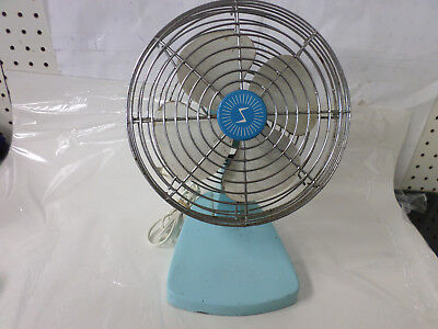 10 Inch 3 Speed Electric Steel Shop Fan - Vintage Cool In Throwback Pastel Blue!