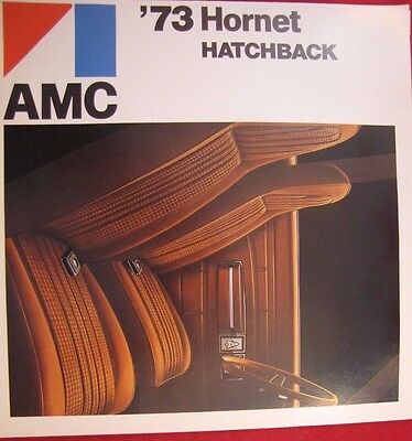 1973 Amc American Motors Corp Original Sales Brochure Hornet Hatchback Fold Out