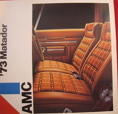 1973 Amc American Motors Corp Original Sales Brochure Matador Fold Out & Wagon