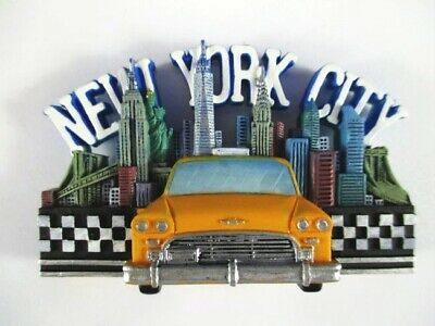 New York Poly Magnet Freedom Tower,Taxi mit Skyline,WTC,Empire State