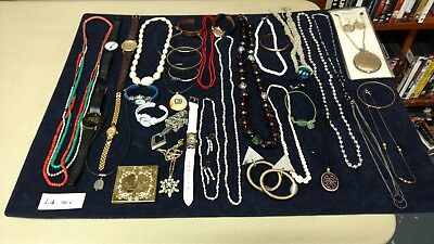Lot of Misc. Costume Jewelry and Watches. Some Vintage.