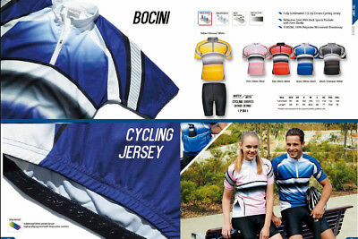 Unisex Adults 1/2 Zip Cycling Jersey Top W/ Reflective Trim & Back Pockets New