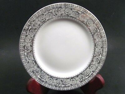 """Kutani China Hand Painted Floral Platinum Bread Butter Plate/s 6 1/4"""""""