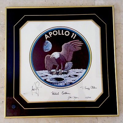 NASA Apollo 11 Limited Edition Framed Emblem Signed Hard To Find Beautiful!