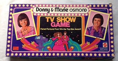 Donny and Marie Osmond TV Show Board Game Vintage 1976 Mattel Rare