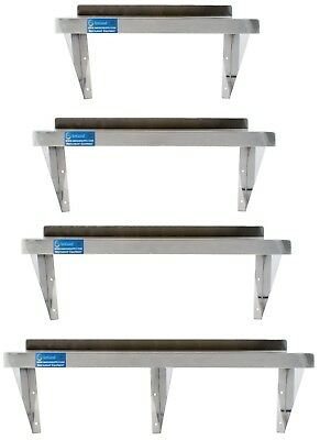 Stainless Steel Wall Mount Shelf | Heavy Duty | Commercial Grade  | NSF | SQ