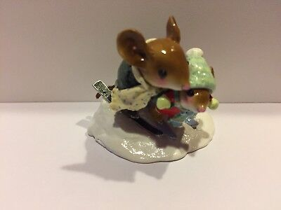 BUNNY SLOPE BUDDIES by Wee Forest Folk, WFF# MS-28, Retired Limited Edition