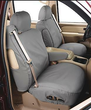 Covercraft SS8357PCGY Rear-Second Seat Bench Seat Covers-Polycotton Fabric, Grey