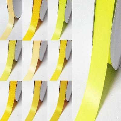 """by 5 MeterS single sided satin ribbon 2"""" / 50mm yellow-orange"""