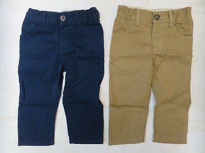 Baby boys trouser chino  M & S age 12 18 months *NEW* navy blue sand beige