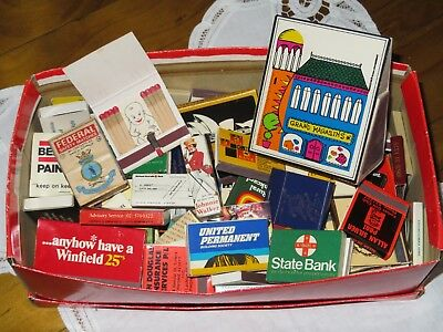 Vintage advertising match boxes & booklets