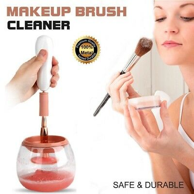 Pink Electric Beauty Cosmetic Brush Makeup Brushes Cleaner Remover Washing Tools