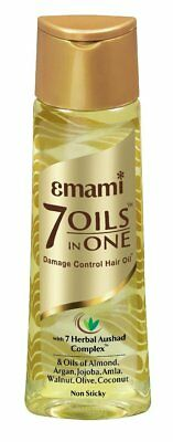 Emami 7 Oils in One  Damage Control Hair Oil with 7 Herbal Aushad Complex 100 ml