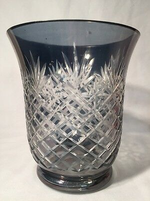 Cut to Clear Glass Vase (ref W154)