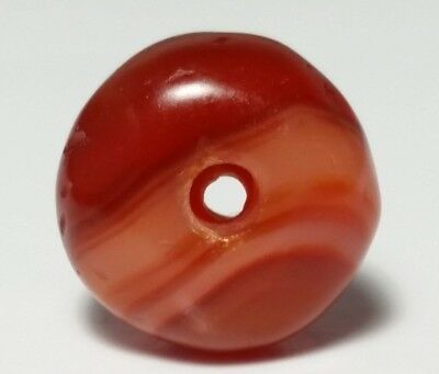 Ancient Rare Banded Carnelian Eye Agate Bead