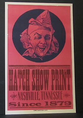 Hatch Show Print Nashville Tennessee Since 1879 Trademark Scary Clown 2013 Nice