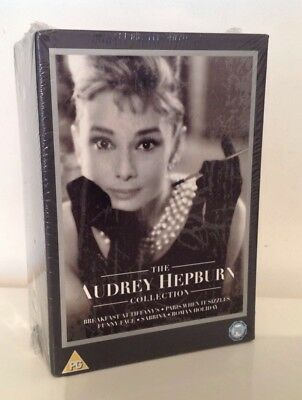 The Audrey Hepburn Collection New Sealed Five Film Dvd Box Set Gift Xmas