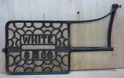 Old Cast Iron WHITE S M Co USA Sewing Machine Decorative Wall Art Machine Part