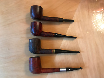 Vintage Estate Lot Of 4 Smoking Pipes Dr. Grabow Carey Irwin's England Italy