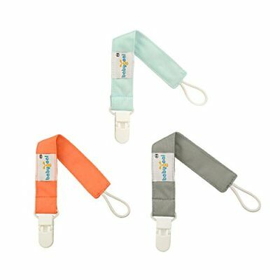 Babygoal Set of 3 Pure Color pacifier clips Fits All Pacifier Styles For Girls