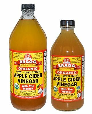 Bragg ORGANIC RAW APPLE CIDER VINEGAR Gluten Free UK SELLER All sizes