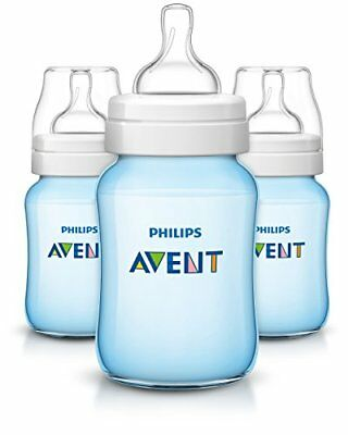 Philips Avent Anti-colic Baby Bottles Blue, 9oz, 3 Piece