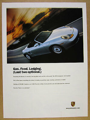 1997 Porsche Boxster silver roadster car photo vintage print Ad