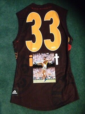 Cyril Rioli Hawthorn Player Issue 2017 Indigenous Guernsey Jumper And Photo