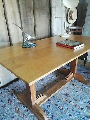 Cotswold School Arts & Craft Solid Oak Gordon Russell Of Broadway Table