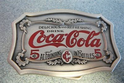Vintage Looking Coke Coca Cola Delicious and Refreshing Metal Belt Buckle