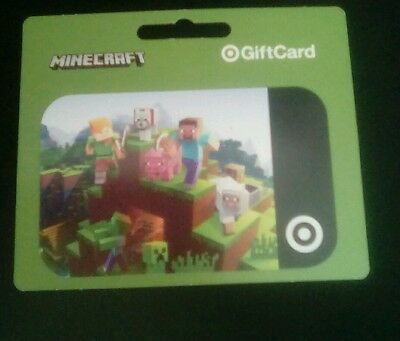 MINECRAFT Target Gift Card, 2017,  Collectible, Mint