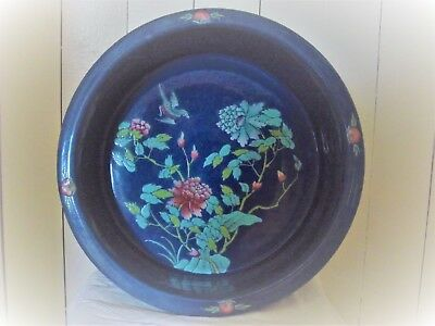 Antique Chinese Large Painted Fish Bowl