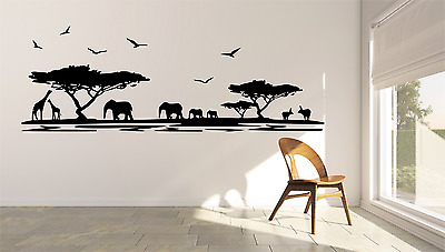 Safari Animal Africa Style Room Girls Boys Home Wall Decal Sticker O65