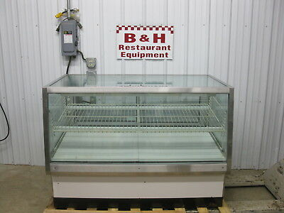 "58 1/2"" Glass Two Dr 2 Door Full Service Bakery Donut Display Show Case 5'"